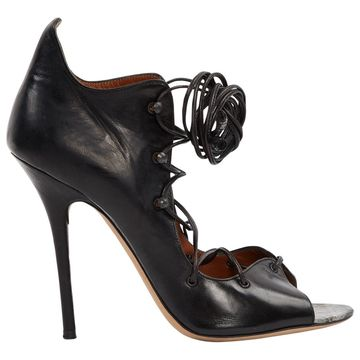 Malone Souliers Black Leather Heels