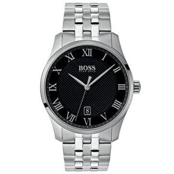 Boss Hugo Boss Men's Master Stainless Steel Bracelet Watch 41mm Women's Shoes
