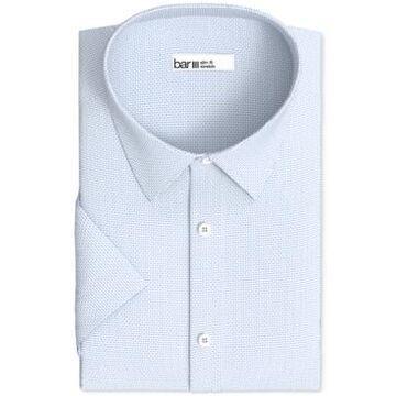 Bar Iii Men's Slim-Fit Performance Stretch Textured Geo Short Sleeve Dress Shirt, Created for Macy's