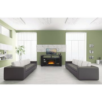 Napoleon Foley TV Stand with Electric Fireplace and Media Storage