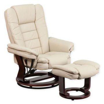 Flash Furniture Contemporary Recliner in Beige