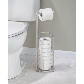 InterDesign Forma Toilet Tissue Holder Plus, Brushed Stainless Steel