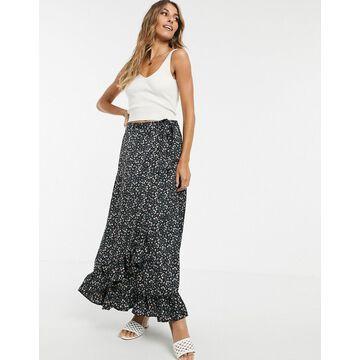 Y.A.S floral wrap maxi skirt