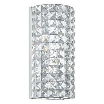 Crystorama Chelsea Hand Polished Crystal Wall Sconce