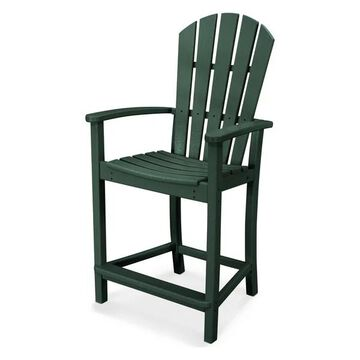 POLYWOOD Palm Coast Counter Chair, Green