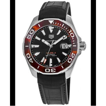 Tag Heuer Aquaracer 300M Automatic Black Dial Black Rubber Strap Men's Watch WAY201N.FT6177 WAY201N.FT6177