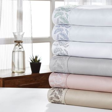 Amrapur Overseas Feather 1000 Thread Count 4-Piece Sheet Set