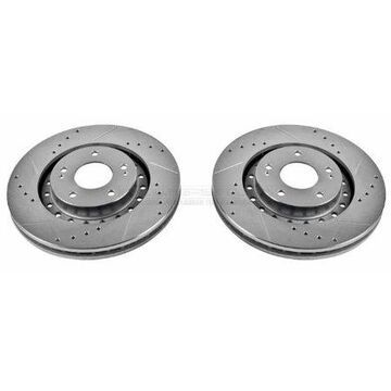 Power Stop JBR785XPR Evolution Drilled & Slotted Rotors -Front