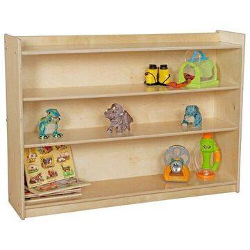 Wood Designs 12736AJ Mobile Adjustable Shelf Unit with Lip