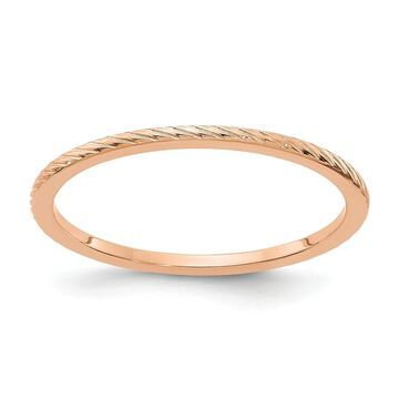 14K Rose Gold 1.2mm Twisted Wire Pattern Stackable Band by Versil (7.5)