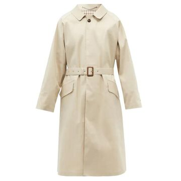 Maison Margiela - Belted Cotton-gabardine Trench Coat - Mens - Beige
