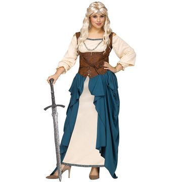 Fun World Viking Queen Plus Size Costume-2XL