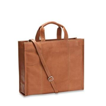 Piel Leather Classic Carry-All Tote in Saddle