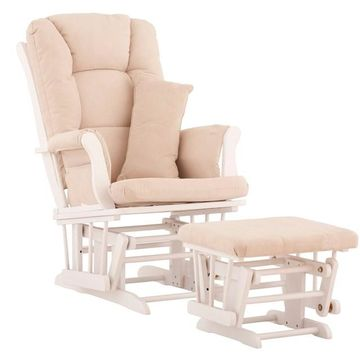 Storkcraft Tuscany Custom Glider Chair and Ottoman Set