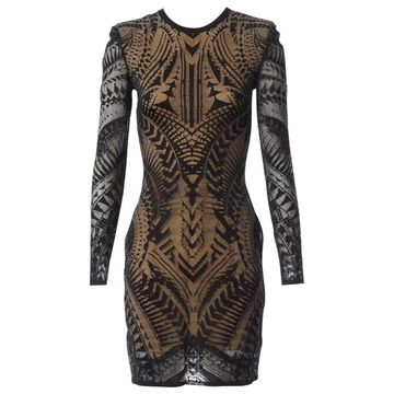 Balmain Black Viscose Dresses