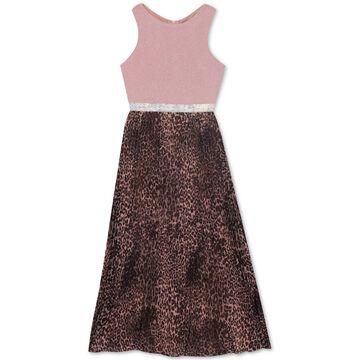Big Girls Animal-Print Maxi Dress