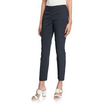Dot-Jacquard Skinny Pants