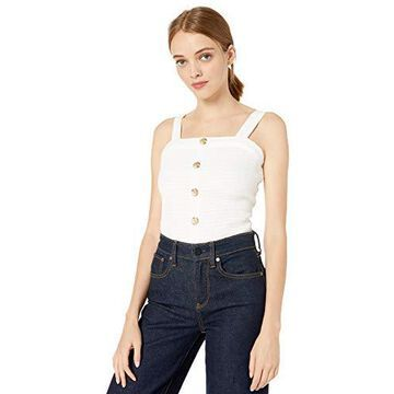 A. Byer womens Button Front Smocked Top (Junior's)