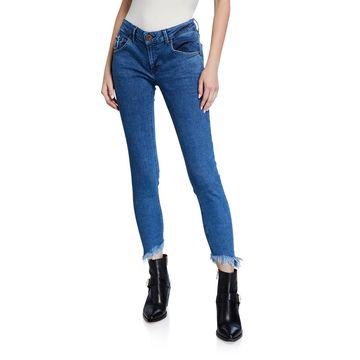Low-Waist Freebird II Frayed Jeans