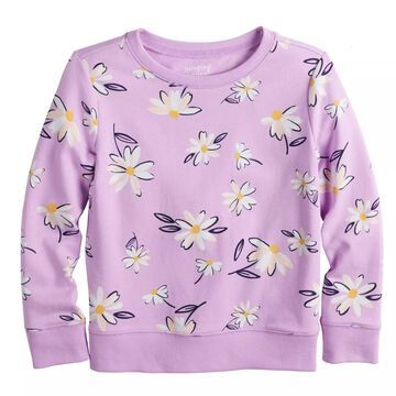 Girls 4-12 Jumping Beans French Terry Crewneck