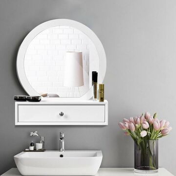 Goplus 10.5-in White Makeup Vanity