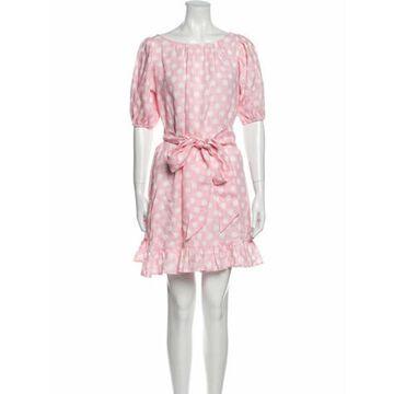 Linen Mini Dress Pink