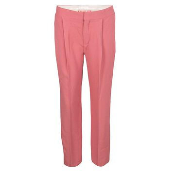 Chloe Pink Island Tailored Straight Fit Trousers L