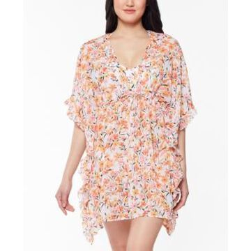 Jessica Simpson Summer Dreaming Printed Caftan Cover-Up Women's Swimsuit