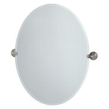 Gatco Large Oval Mirror in Satin Nickel