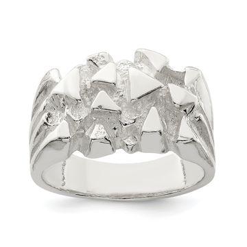 Versil Sterling Silver Nugget Ring