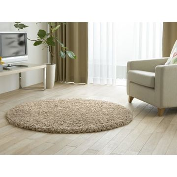 Shaw Bling Collection Super Shag Area Rug (6' Round)
