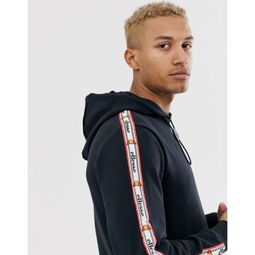 ellesse Monterrey hoodie with drawstring toggle in black