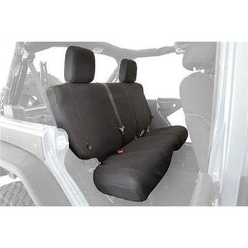 Smittybilt 56647601 Gear Custom Fit Seat Covers Rear Black For 03-06 Jeep TJ LJ