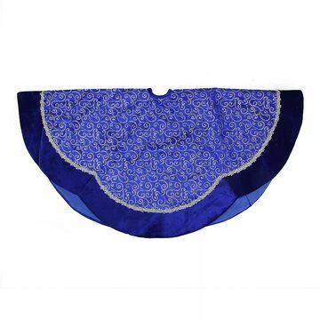 Northlight Seasonal 48-in. Blue & Silver Filigree Swirl Christmas Tree Skirt