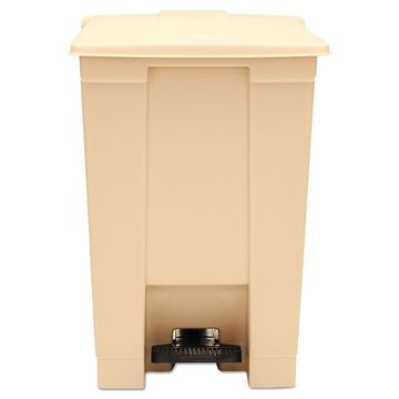 Rubbermaid Commercial Indoor Utility Step-On Waste Container Square Plastic