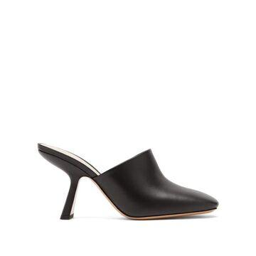 Nicholas Kirkwood - Alba Square-toe Leather Mules - Womens - Black