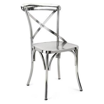 Imax Iron Chair With Silver Finish 14779