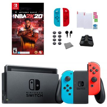Nintendo Switch Neon Console with NBA 2K2018-in-1 Bundle