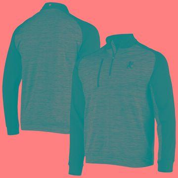 Levelwear Sacramento Kings Charcoal Rampart Raglan Space Dye Quarter-Zip Jacket
