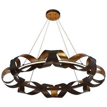 Eurofase Banderia LED Chandelier - Color: Bronze - Size: Medium - 30080-010