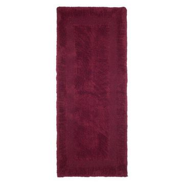 100% Cotton Reversible Long Bath Rug by Lavish Home, Burgundy