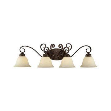 Millennium Lighting 7284 Alma 4 Light Bathroom Vanity Light Bronze / Gold Indoor Lighting Bathroom Fixtures Vanity Light