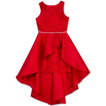 Big Girls Lace High-Low Overlay Dress