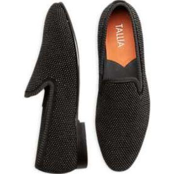 Tallia Enrico Black Beaded Textile Smoking Shoes