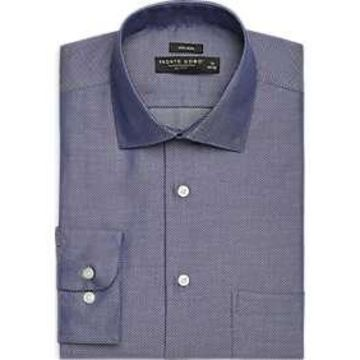 Pronto Uomo Navy Check Dress Shirt