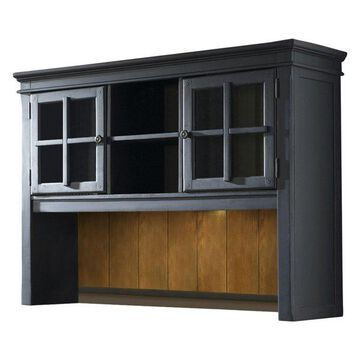 Liberty Bungalow Jr Executive Credenza Hutch, Black