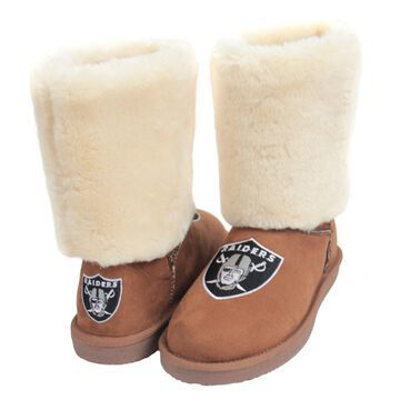 Women's Las Vegas Raiders Cuce Tan Fan Boot