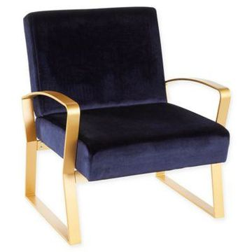 Lumisource Velvet Henley Chair in Green