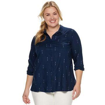 Plus Size SONOMA Goods for Life Challis Shirt