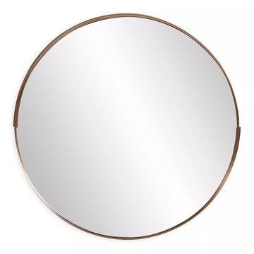 Howard Elliott& Intrepid 20-Inch Round Mirror in Brass
